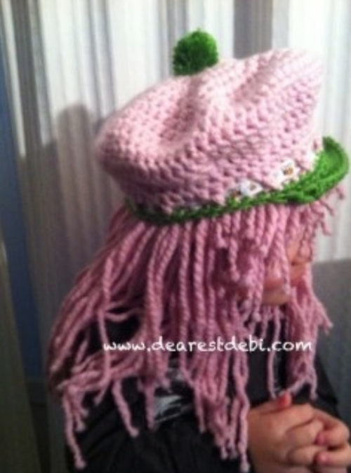 Strawberry Shortcake Inspired Hat and Wig