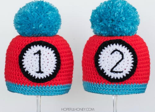Thing 1 and Thing 2 Inspired Crochet Hats