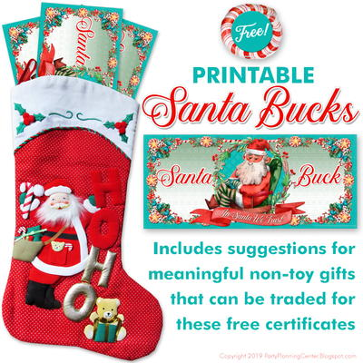 Santa Bucks Kids Gift Certificates