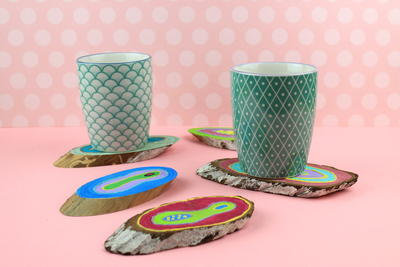 DIY Wooden Coasters Full of Colors