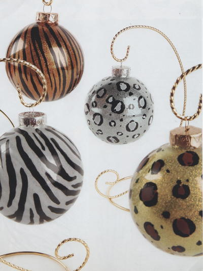Animal Print Ornaments