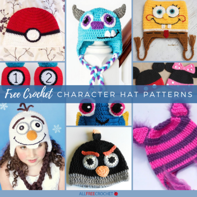 50+ Free Crochet Character Hat Patterns |