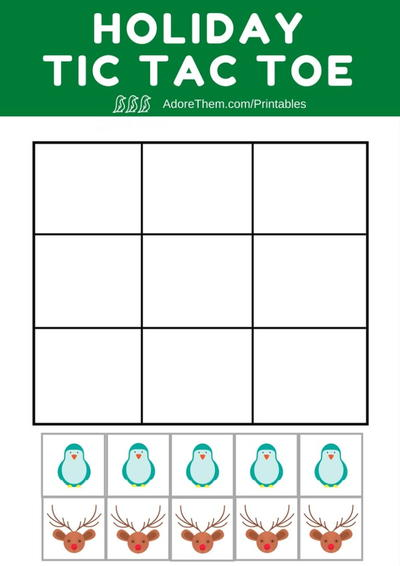 Holiday Tic Tac Toe Printable