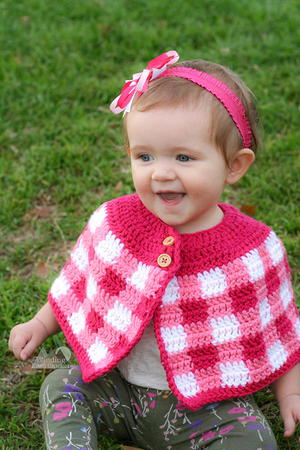 Plaid Cape for Babies and Girls