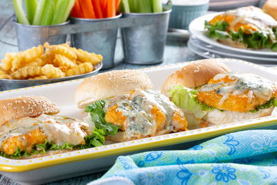 Buffalo Style Catfish Sliders