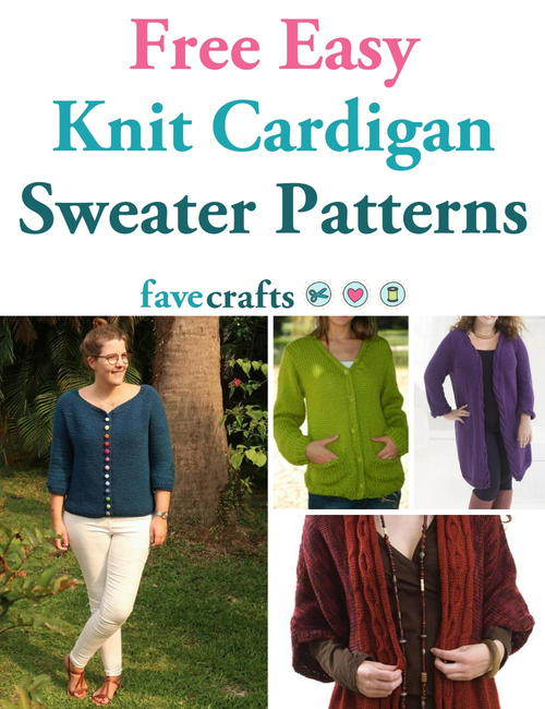 Free Easy Knit Cardigan Sweater Patterns