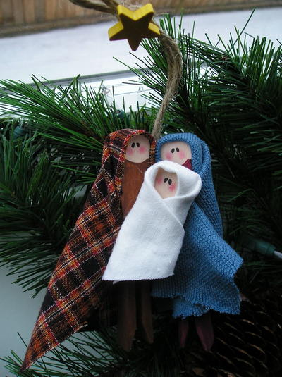 Fabric Nativity Christmas Tree Ornament