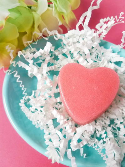 Sugar Scrub Bars Recipe: Strawberry Heart