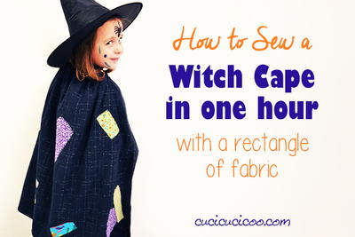 Easy witch cape for beginner sewists