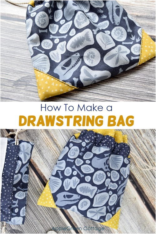 How To Make The Cutest Drawstring Bag!