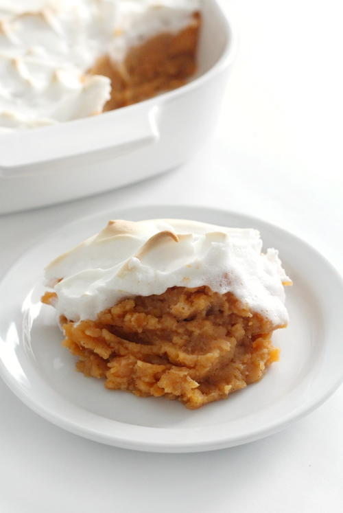 Vegan Sweet Potato Casserole with Marshmallow (Gluten-Free, Allergy-Free)