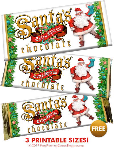 Christmas Candy Bar Wrapper Template