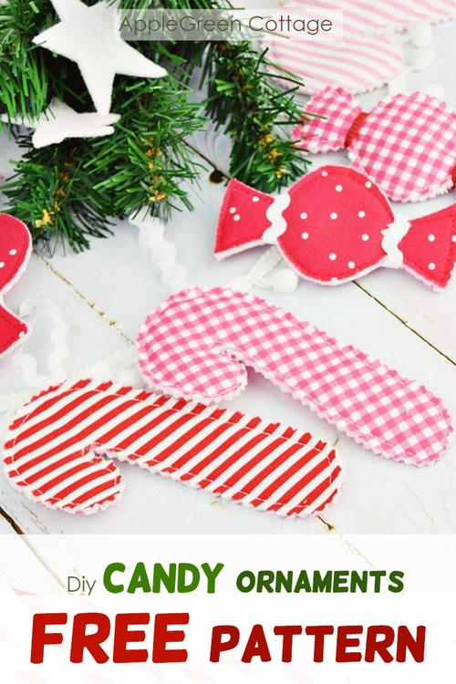 Sweet DIY Candy Ornaments - 2 FREE Templates!