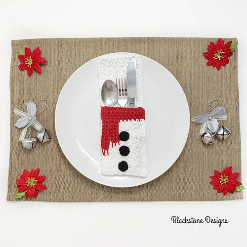 Snowman Belly Flatware Holder
