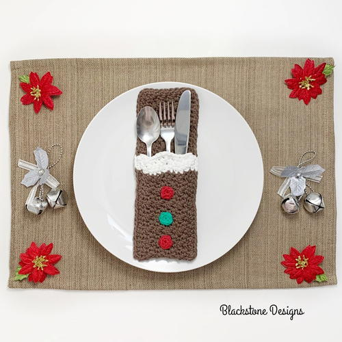 Gingerbread Belly Flatware Holders