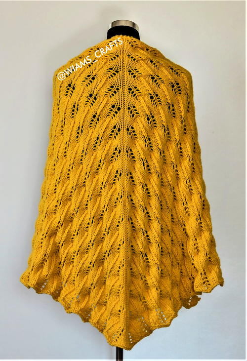 Sunflower Swirls Shawl
