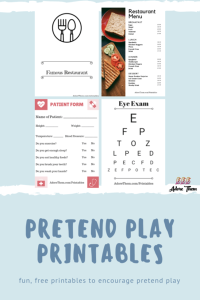 Pretend Play Printables
