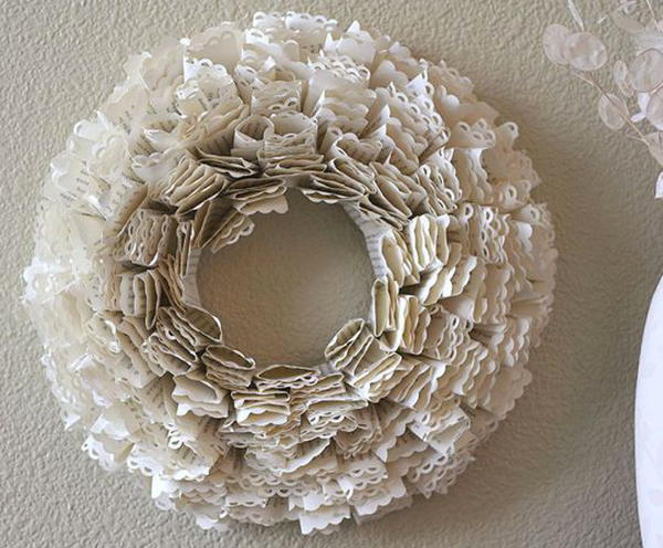 Book Wreath Tutorial