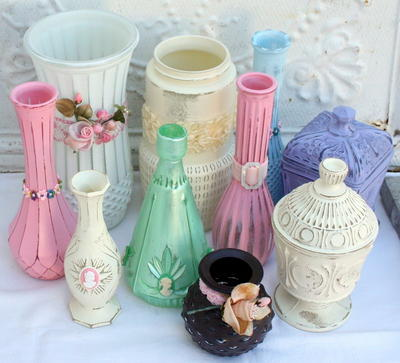 Upcycled Flea Market Glass Vases