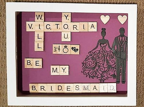 DIY Scrabble Bridesmaid Invitations