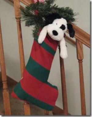 Simple Refashioned Christmas Stocking