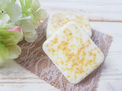 Homemade All Natural Lemon Soap