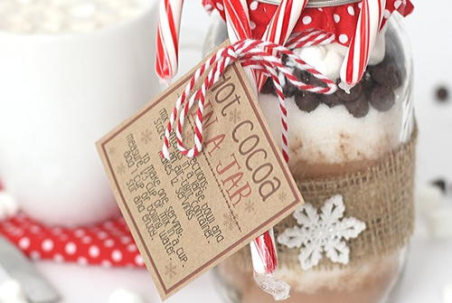 Hot Cocoa In A Jar Gift Idea
