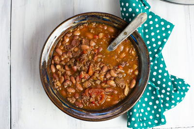 Slow Cooker Cowboy Bean Soup Recipe