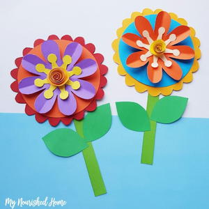 Whimsical Paper Flower Craft