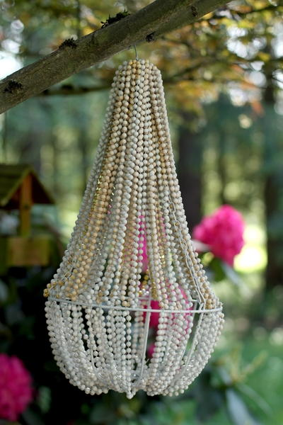 Dollar Store DIY Beaded Chandelier