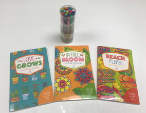 Adult Coloring Book and Gel Pen Set Giveaway