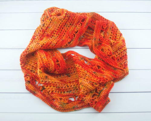 Flames Forever Crochet Infinity Scarf