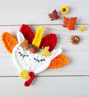 Crochet Thanksgiving Turkey Unicorn