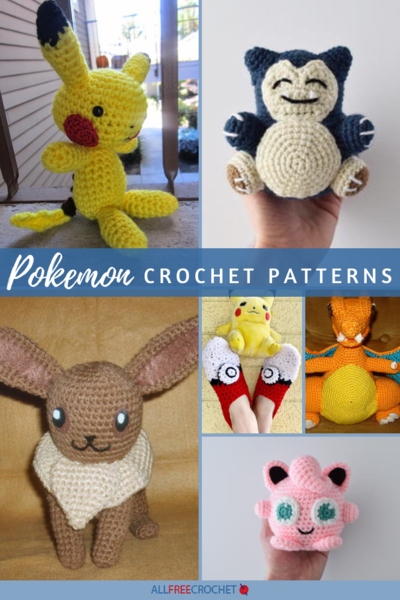 Crochet Pokemon Set Pikachu, Squirtle, Bulbasaur, Charmander ... | 600x400
