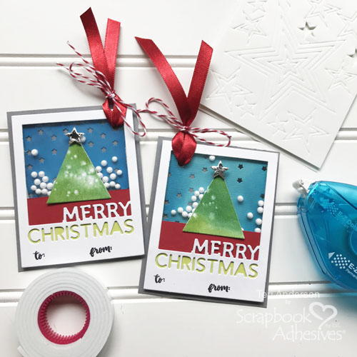 Merry Christmas Shaker Gift Tags