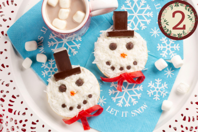 Frosty Coconut Snowman Cookies