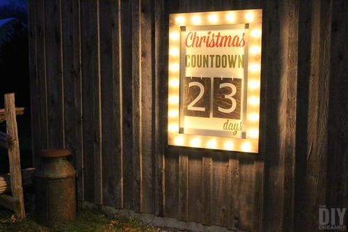 Outdoor Christmas Countdown