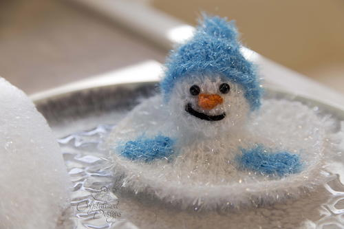 Melted Snowman Kitchen Scrubby