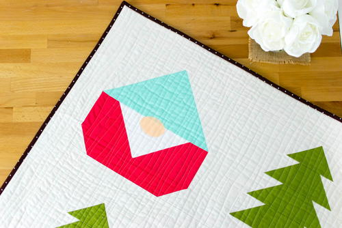 Gnome Christmas Quilt Block Pattern