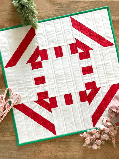 Peppermint Mini Quilt Pattern