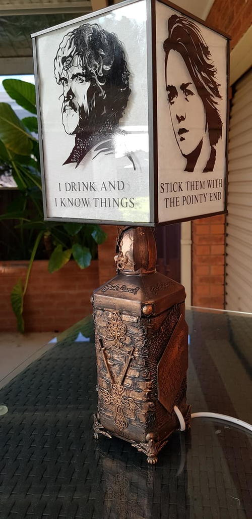 Game of Thrones mixed media Lamp