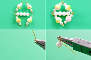 Beebeecraft Tutorials on Making yellow Pearl Earrings