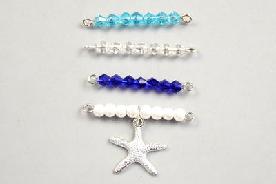 Beebeecraft Tutorials on Making Starfish-pendant Necklace with Pearl Beads and Crystal Beads