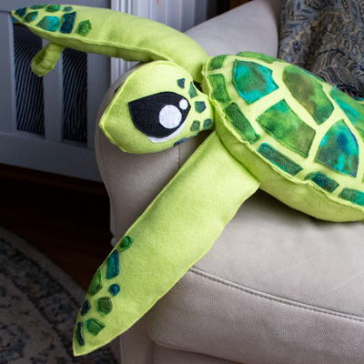 Stuffed Sea Turtle Sewing Pattern