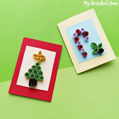Quilled Christmas Card Craft