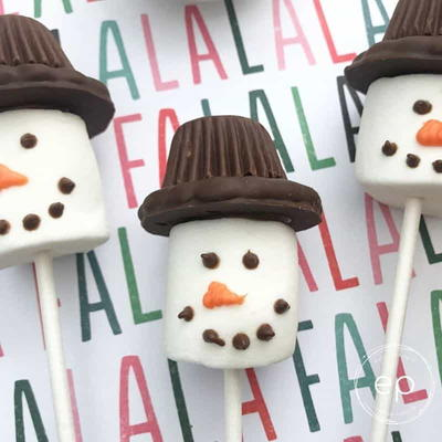 Snowman Marshmallow Craft
