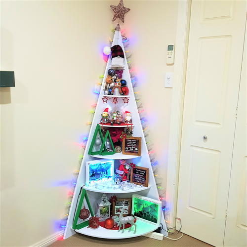 Corner Christmas Tree Shelf