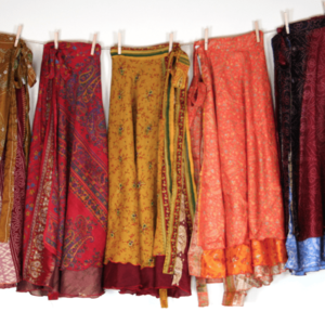 Silk Sari Wrap Skirt Giveaway