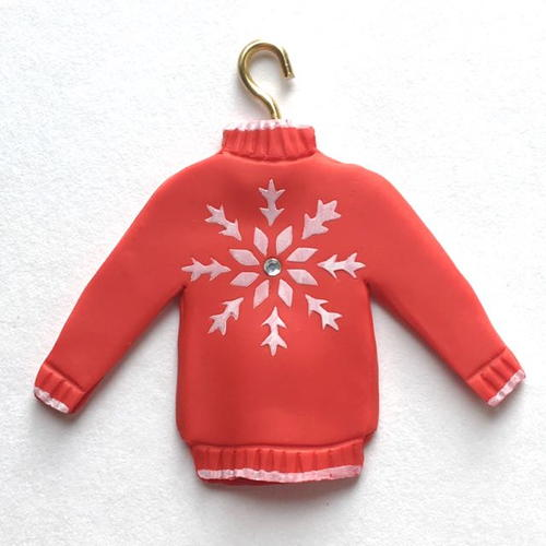 Clay Christmas Sweater Ornament