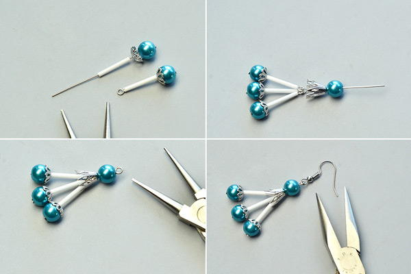 Beebeecraft Tutorials on Making a Pair of Pearl Earrings